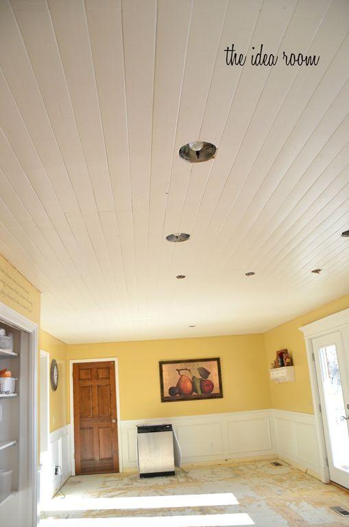 DIY Plank Ceiling  DIY Wood planked ceiling DIY