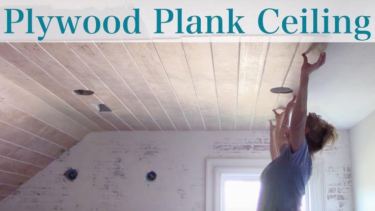 DIY Plank Ceiling  DIY Plywood Plank Ceiling