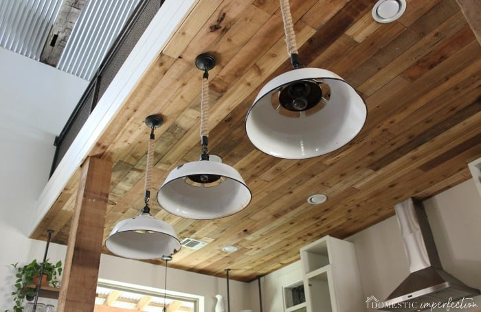 DIY Plank Ceiling  DIY Reclaimed Wood Ceiling so cheap so pretty