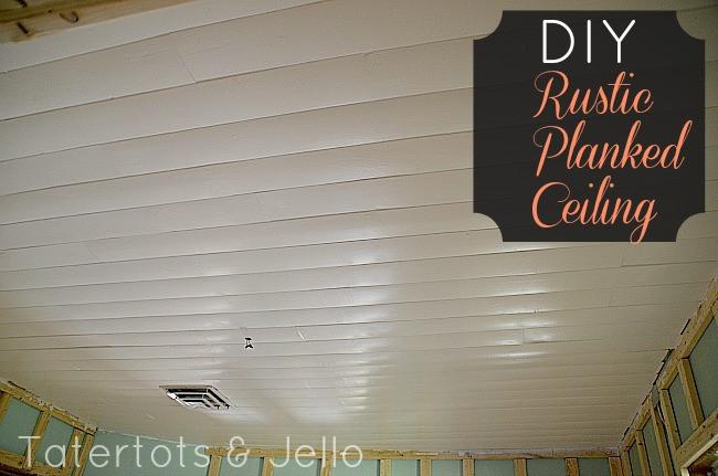 DIY Plank Ceiling  DIY Rustic Planked Ceiling