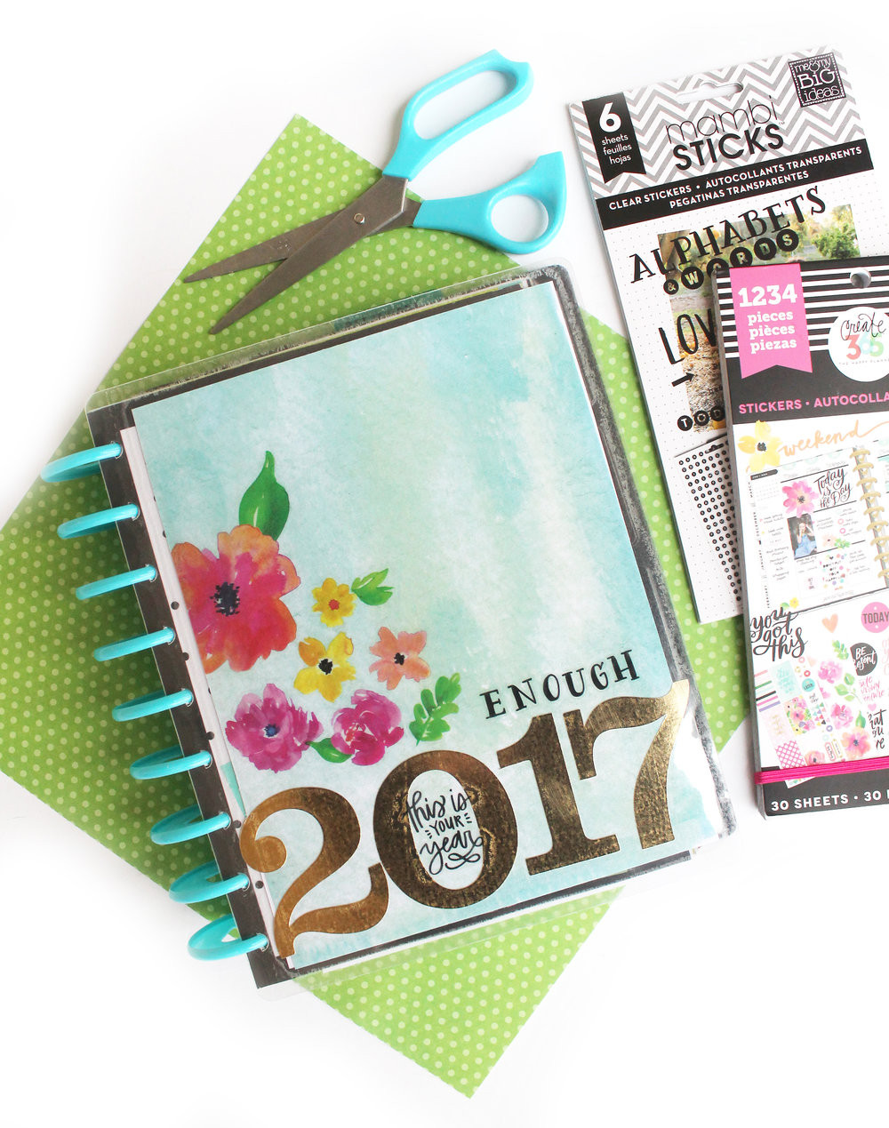 DIY Planner Cover  DIY 2017 Vision Board w The Happy Planner custom cover