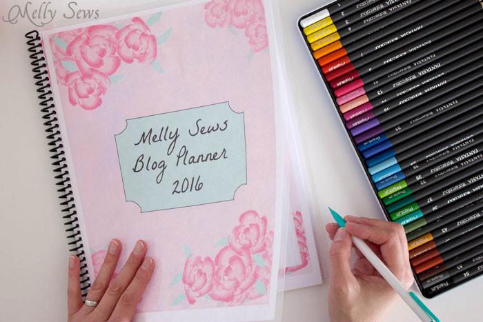 DIY Planner Cover  2016 DIY Planner Blog Planner Free Printable Pages