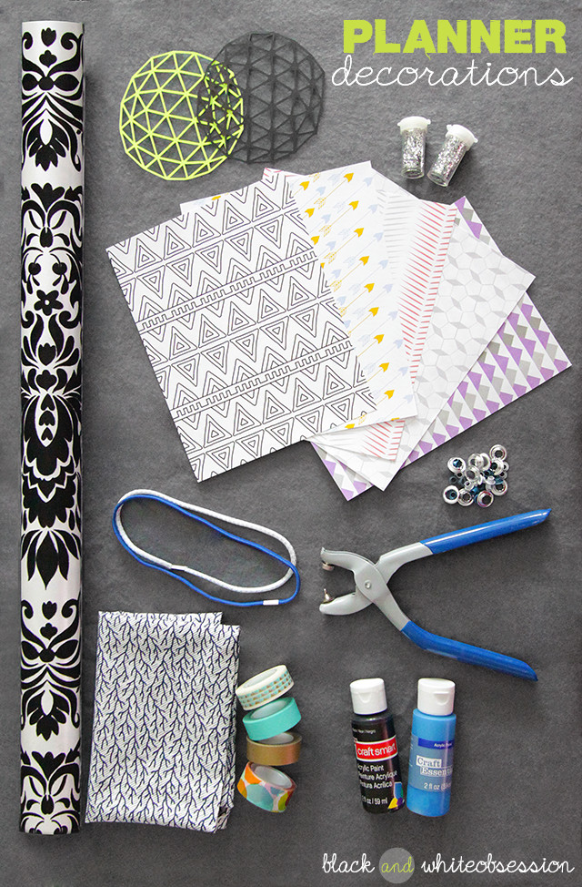 DIY Planner Cover  Black and White Obsession Organize this DIY Planner