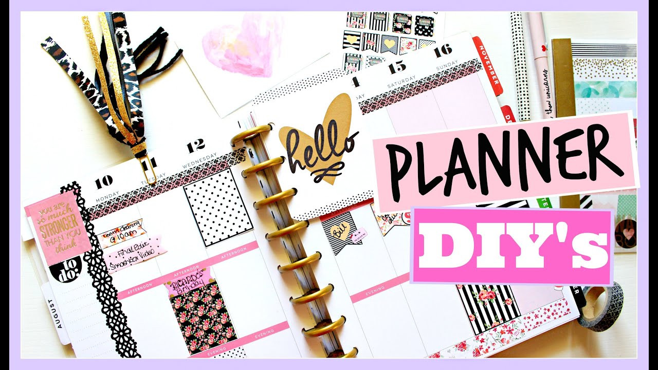 DIY Planner Cover  PLANNER DIY'S Page Flags Covers and Bookmarks