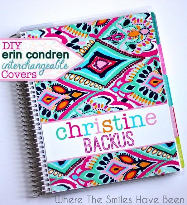 DIY Planner Cover  DIY Erin Condren Life Planner Interchangeable Covers