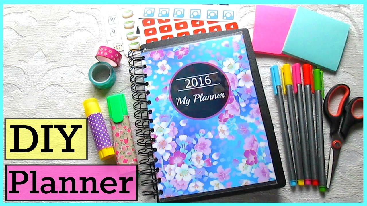 DIY Planner Cover  DIY Planner Cover Divider Stickers and Organizing