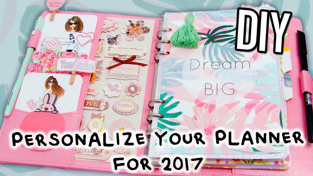 DIY Planner Cover  DIY PLANNER Supplies FREE stickers Cover Dividers