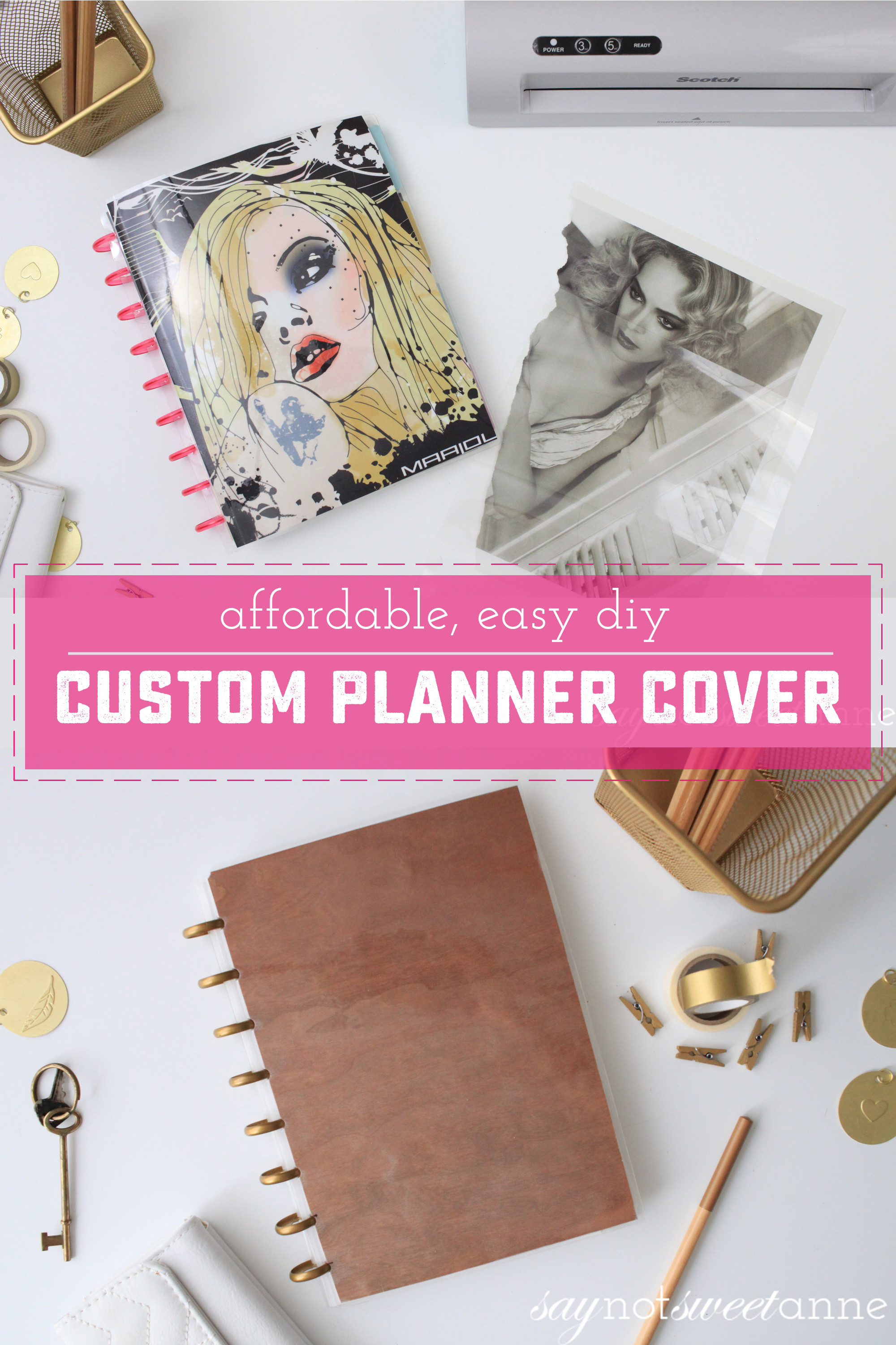 DIY Planner Cover  How To Make Custom Happy Planner and Other Discbound