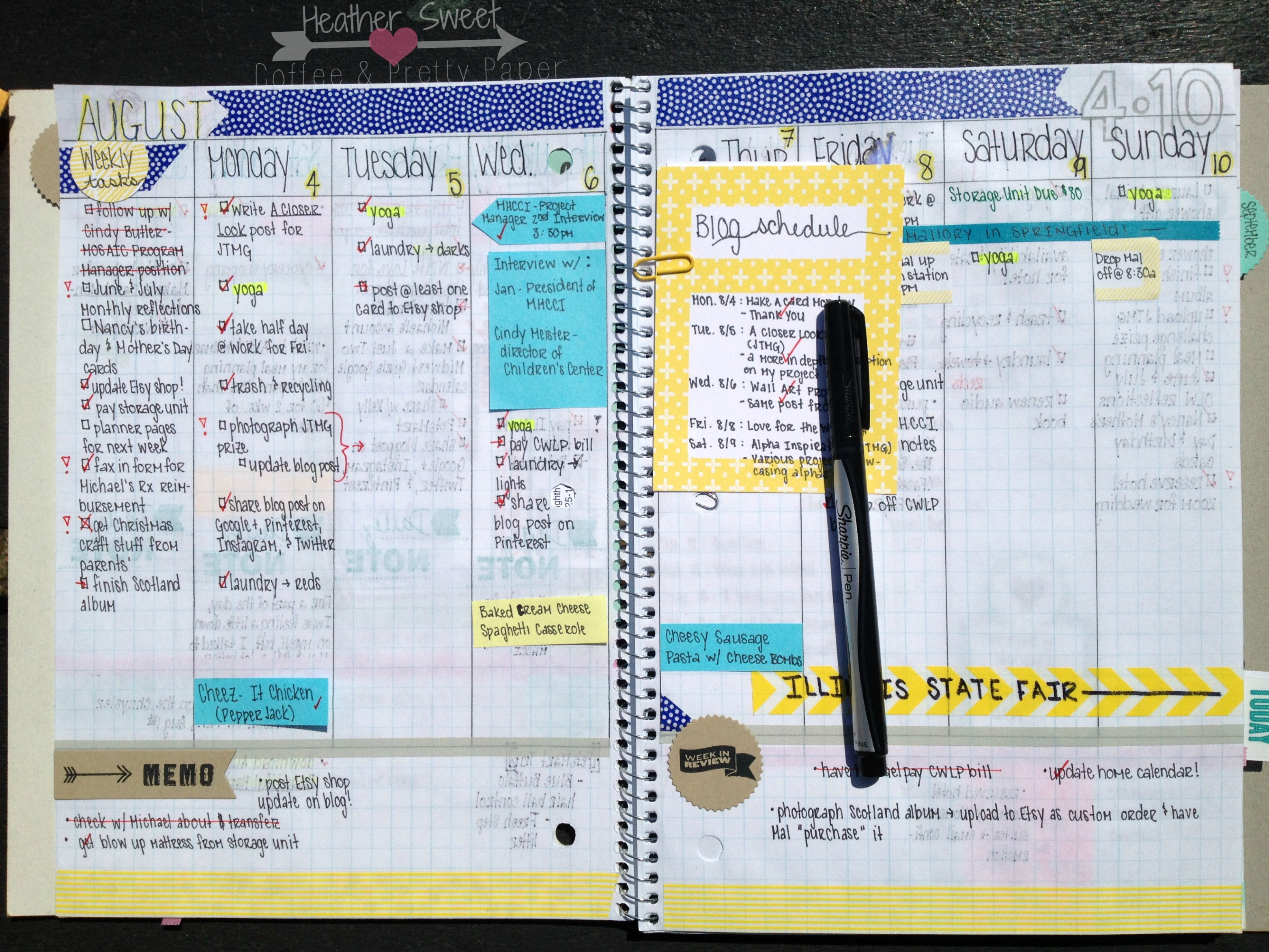 DIY Planner From Notebook  Coffee and Pretty Paper My DIY Planner