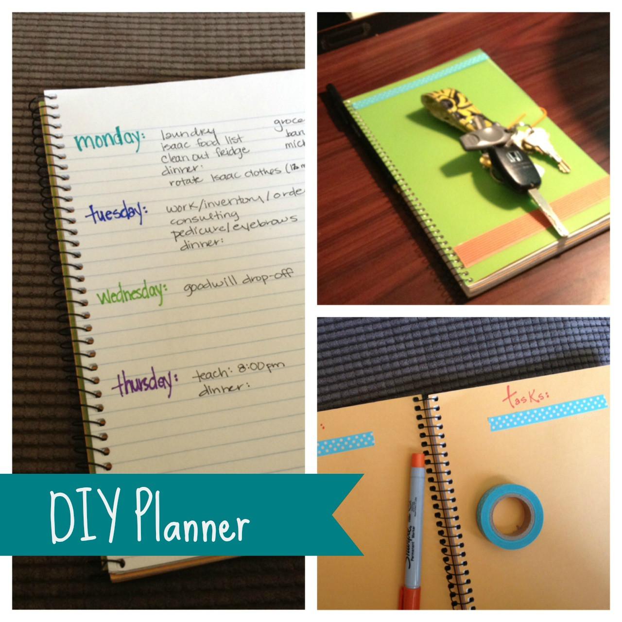 DIY Planner From Notebook  My DIY Planner