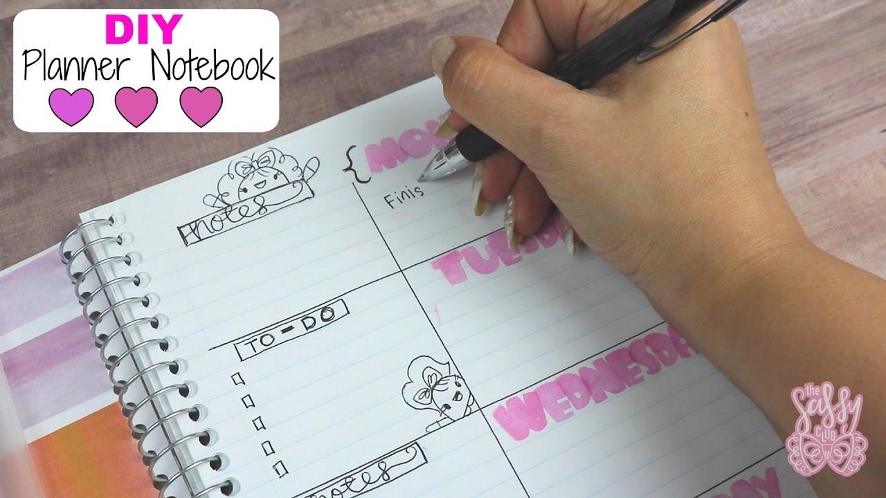 DIY Planner From Notebook  DIY Planner Notebook Easy & Bud friendly