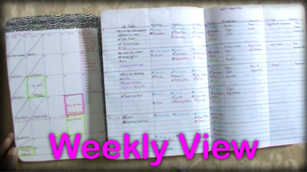 DIY Planner From Notebook  DIY position Notebook Planner Weekly View