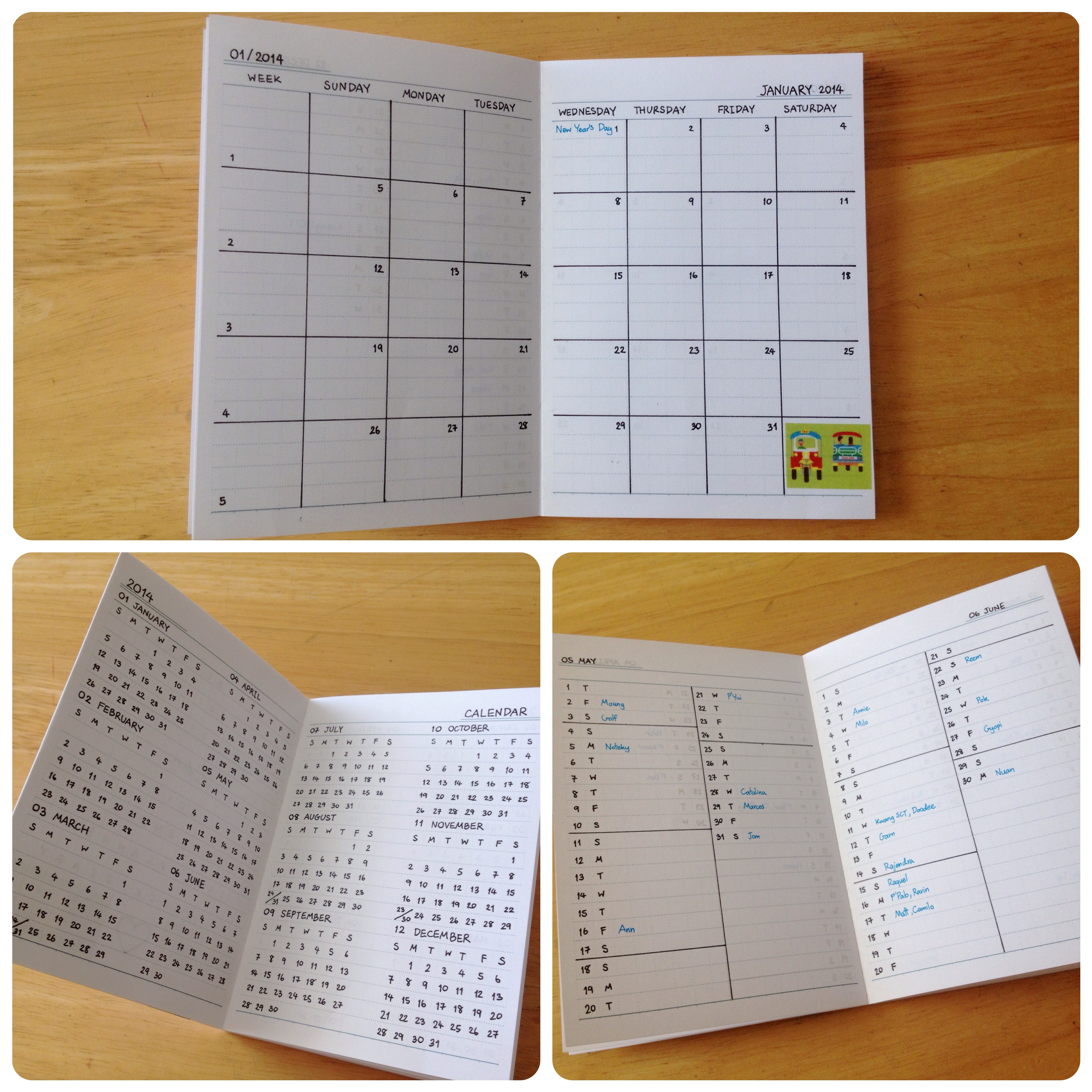 DIY Planner From Notebook  My DIY 2014 Planner – Pannita s Toy Box
