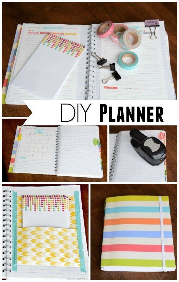 DIY Planner From Notebook  She s crafty DIY Planner