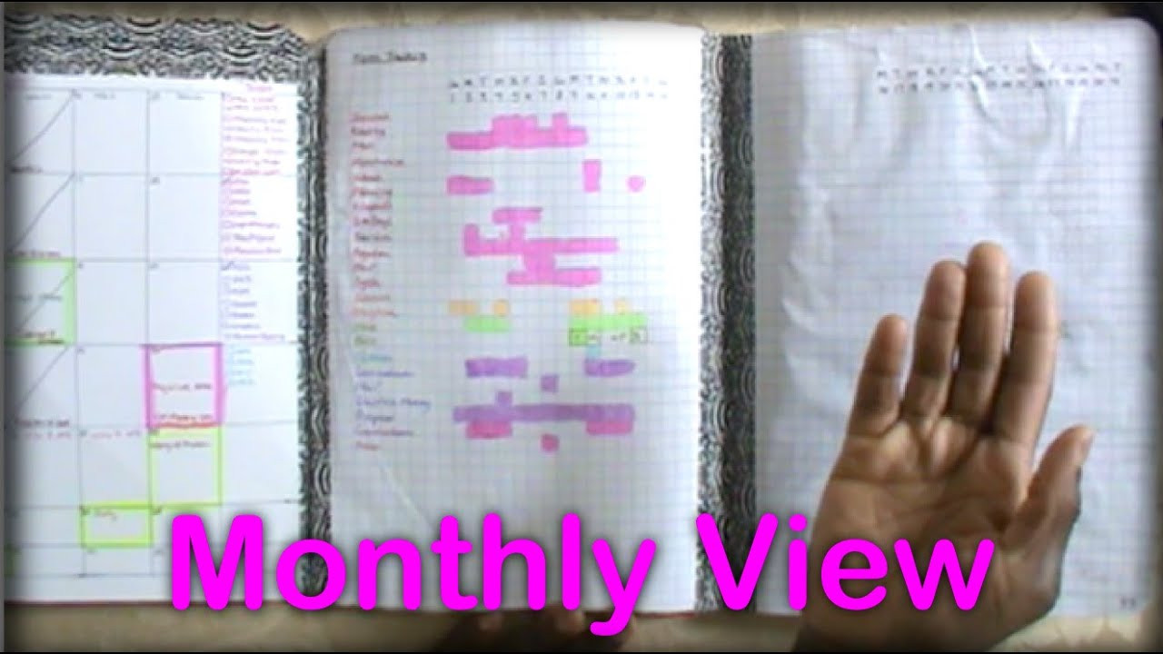 DIY Planner From Notebook  DIY position Notebook Planner Monthly View