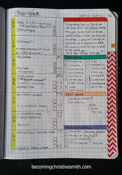 DIY Planner From Notebook  position notebook grid planner DIY 3