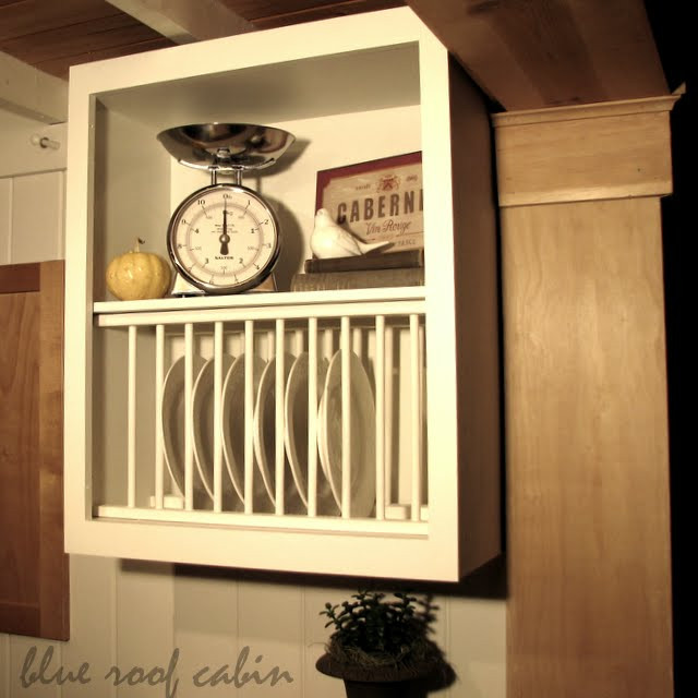 DIY Plate Rack  20 Inspiring DIY Kitchen Cabinets Simple Do It Yourself