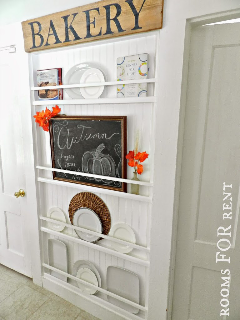 DIY Plate Rack  DIY Small Space Furniture Small Home Design