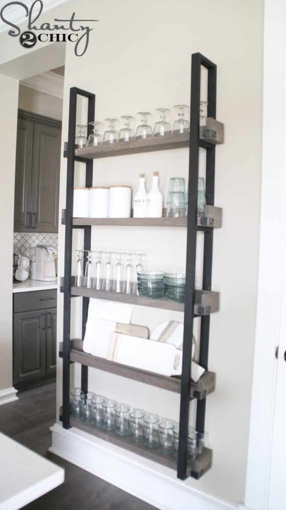 DIY Plate Rack  DIY Floating Plate Rack and How To Video Shanty 2 Chic
