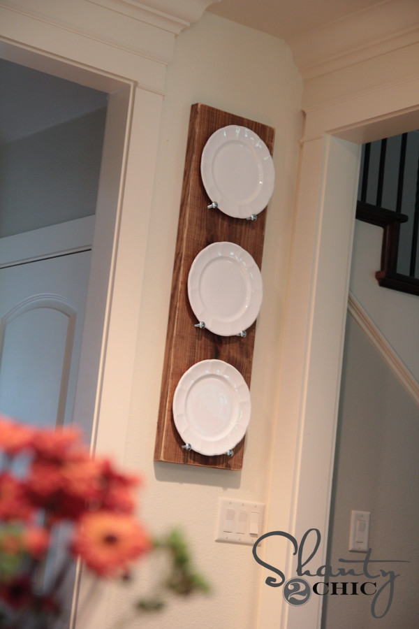 DIY Plate Rack  DIY Plate Rack for under $10 Shanty 2 Chic