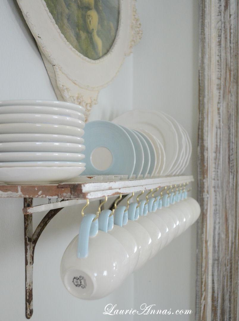 DIY Plate Rack  LaurieAnna s Vintage Home DIY Shutter Plate Rack