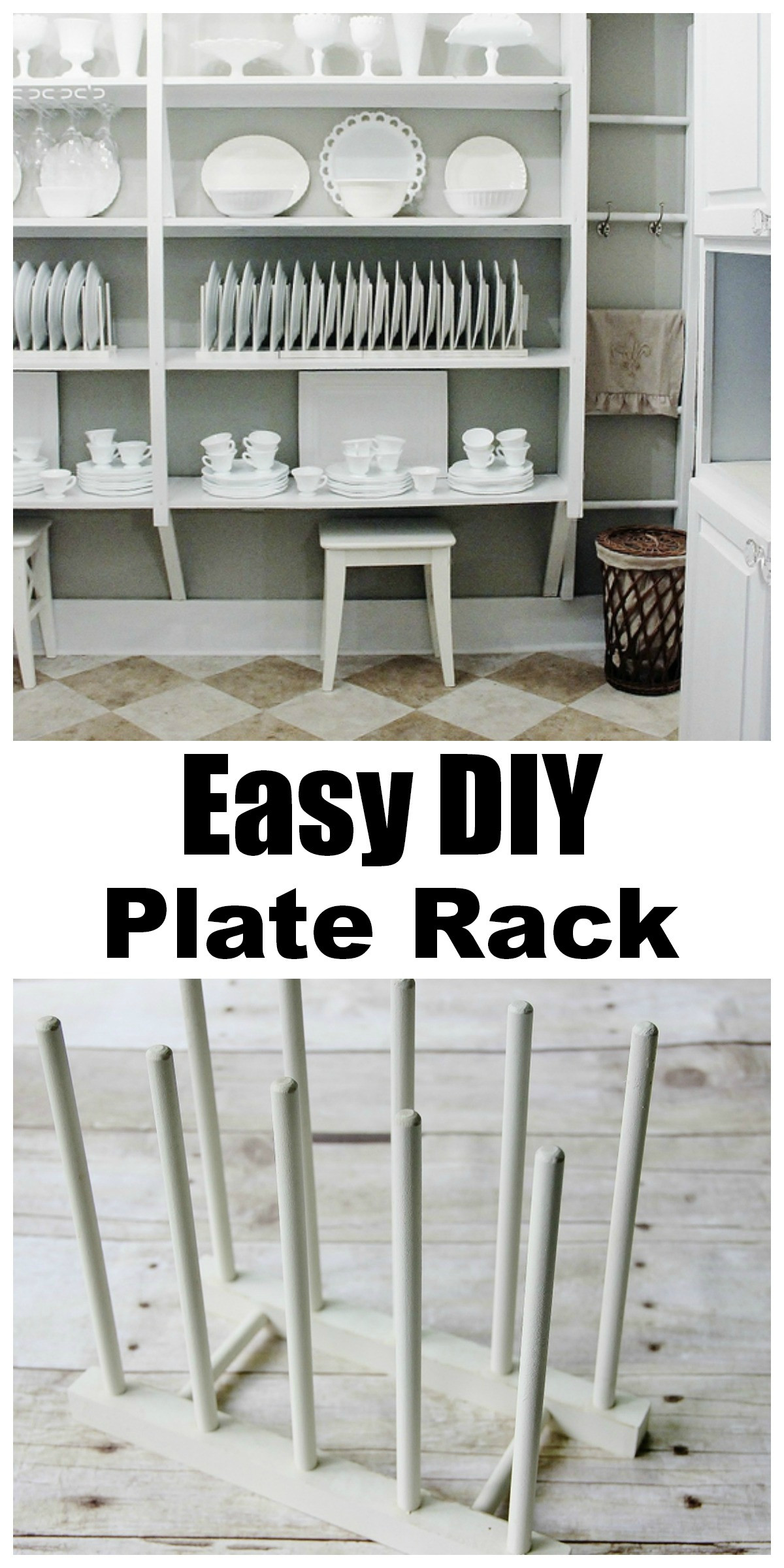 DIY Plate Rack  Simple Plate Display Rack Thistlewood Farm