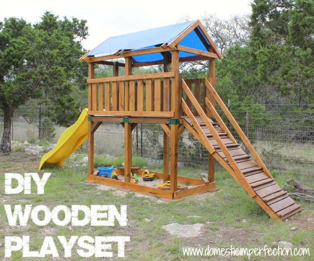 DIY Playset Plans  DIY Playset and Staining with Flood Wood Domestic