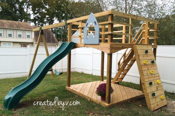 DIY Playset Plans  DIY Outdoor Playset Materials & Tools List created by v