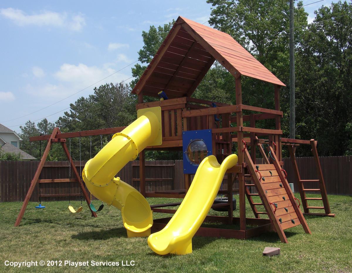 DIY Playset Plans  Gemini Playset DIY Wood Fort and Swingset Plans
