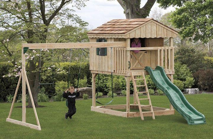 DIY Playset Plans  Backyard Playset Plans