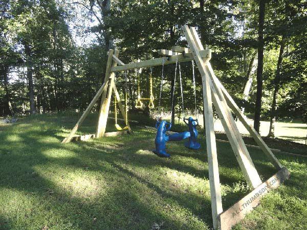 DIY Playset Plans  34 Free DIY Swing Set Plans for Your Kids Fun Backyard
