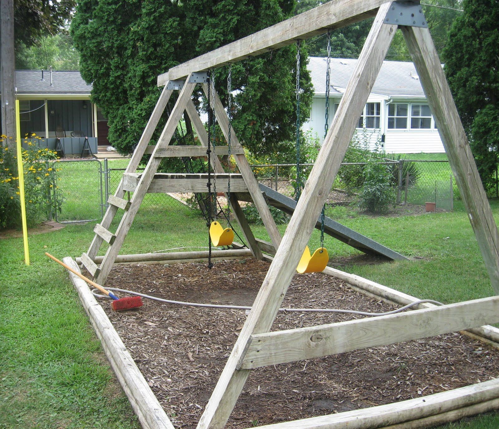 DIY Playset Plans  How to Refinish a Wood Swing Set stepbystep