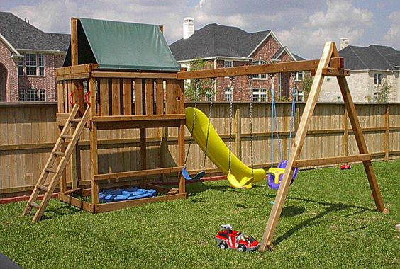 DIY Playset Plans  swing set plans do it yourself wood swing sets plans