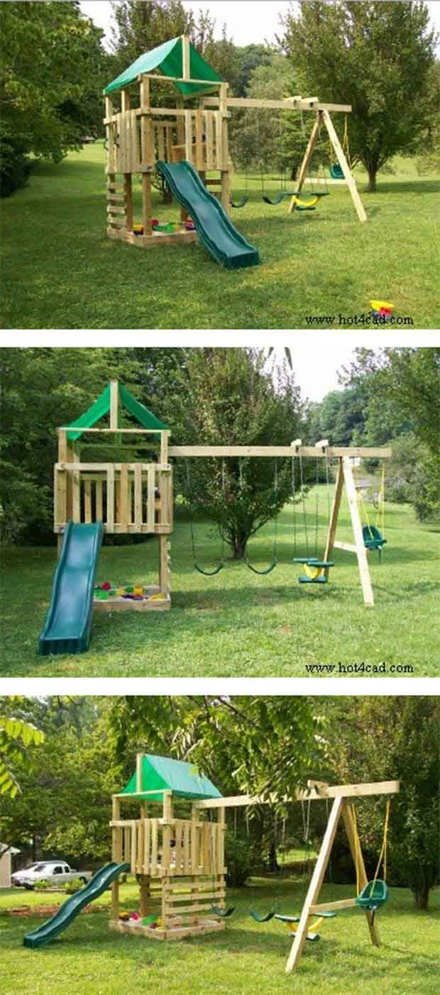 DIY Playset Plans  1000 ideas about Kids Playsets on Pinterest