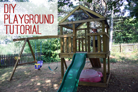 DIY Playset Plans  How to Build a DIY Wooden Playground Playset