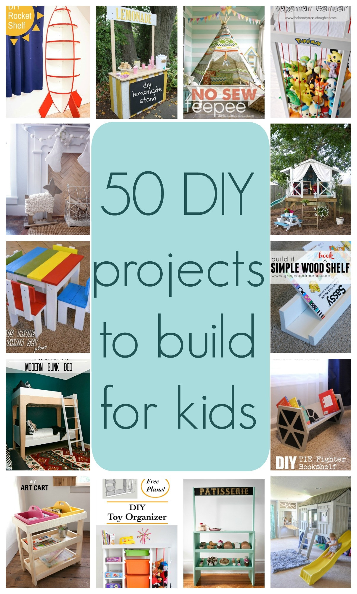 DIY Projects For Kids  50 DIY projects to build for kids Part 1 The Created Home