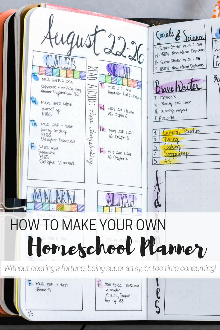 DIY School Planner  DIY Homeschool Planner for the Artistically Challenged