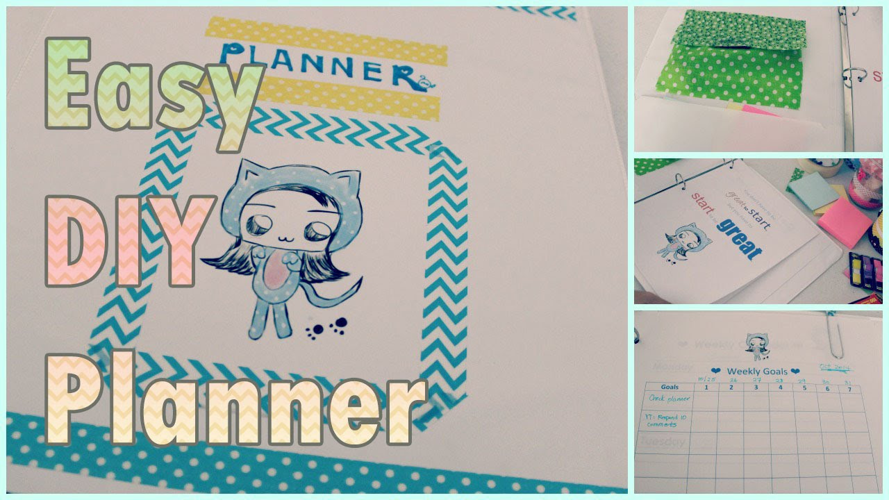 DIY School Planner  DIY Schedule Planner Agenda Organizer for Back to School
