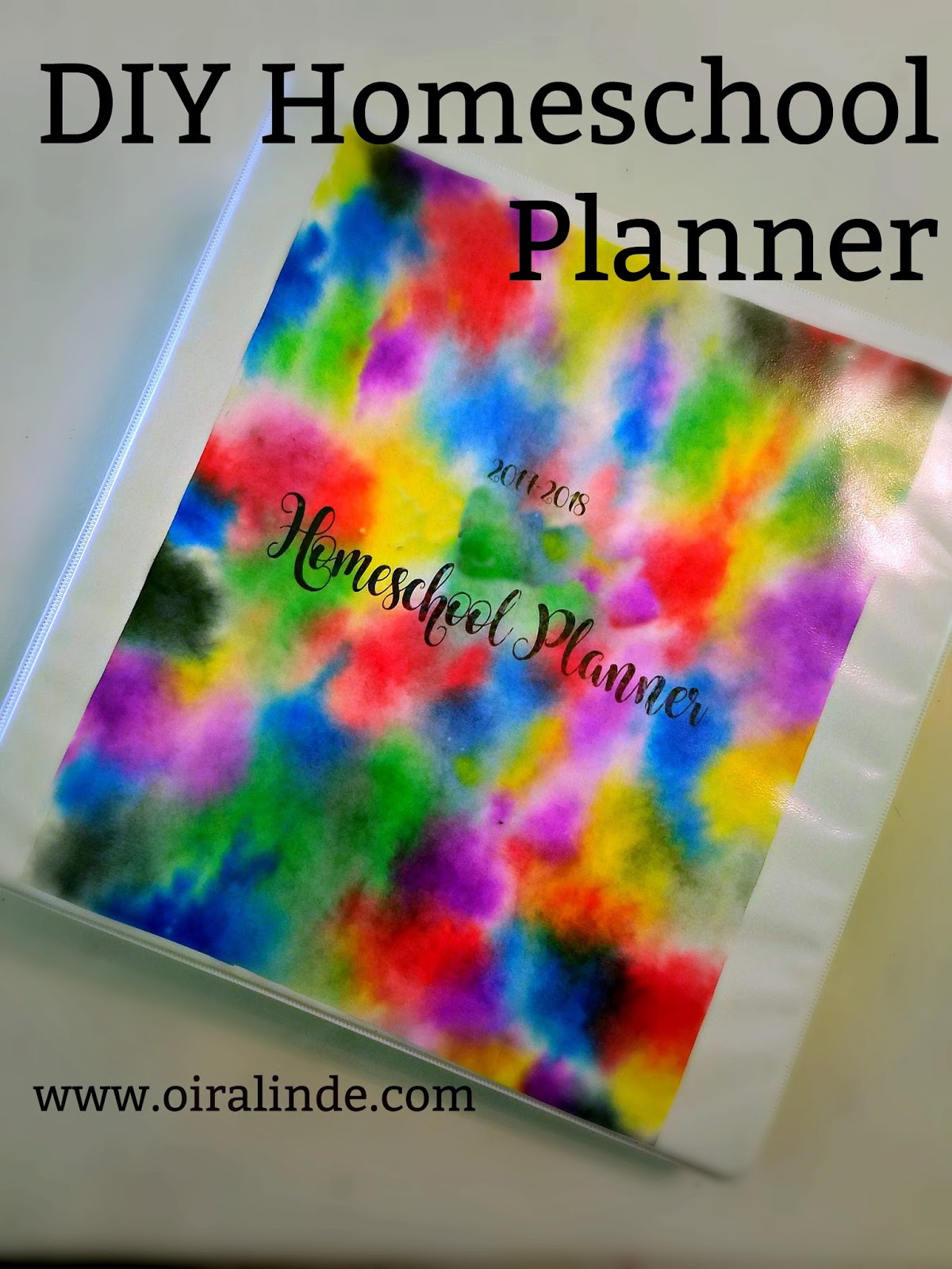 DIY School Planner  Oiralinde My DIY Homeschool Planner