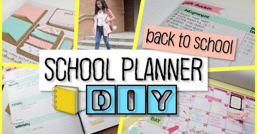 DIY School Planner  10 DIY School Planners