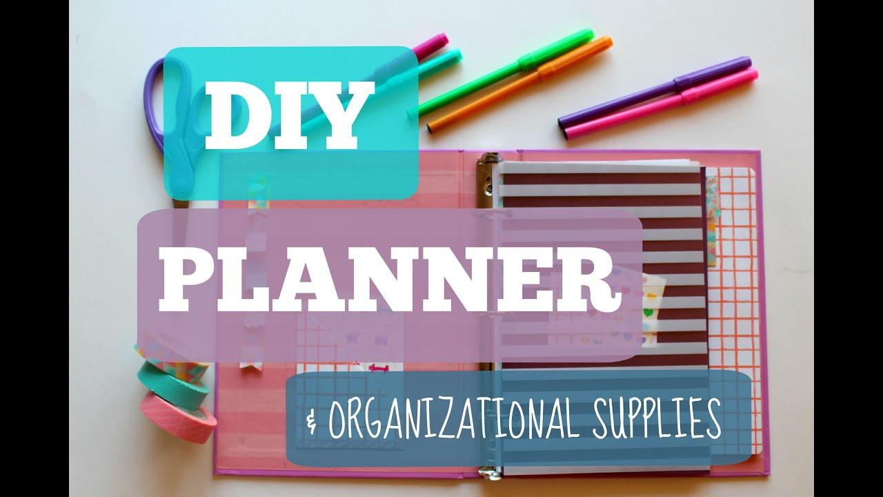 DIY School Planner  Back To School