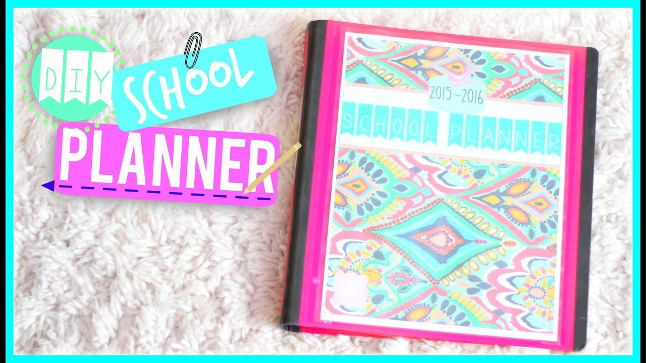 DIY School Planner  DIY School Planner 2015