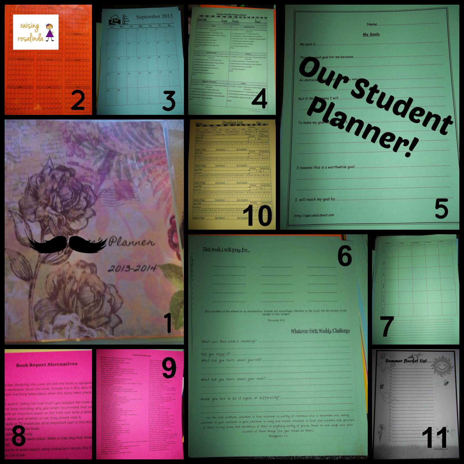 DIY School Planner  Raising Rosalinda Our DIY Student Planner
