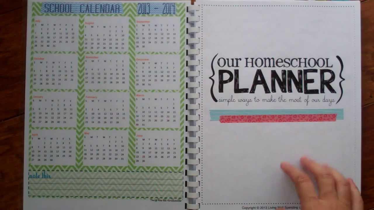 DIY School Planner  Tour of my DIY homeschool planner 2013 2014