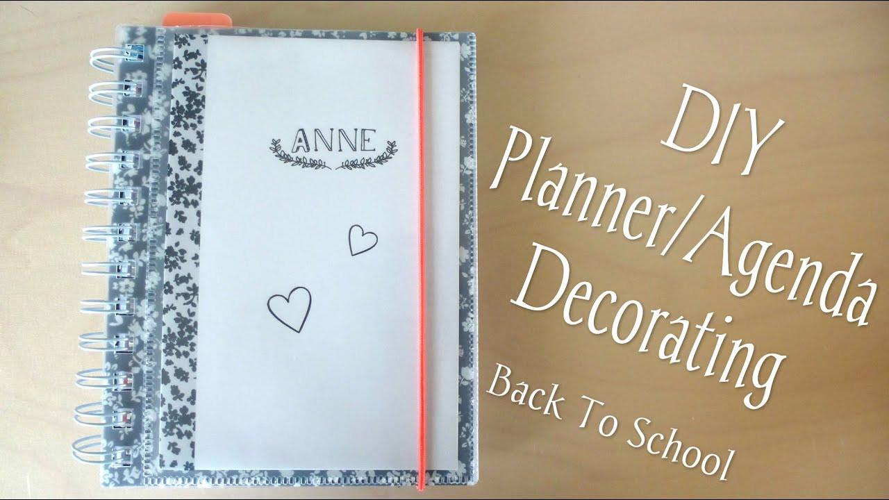 DIY School Planner  DIY Planner Agenda Decorating Back To School