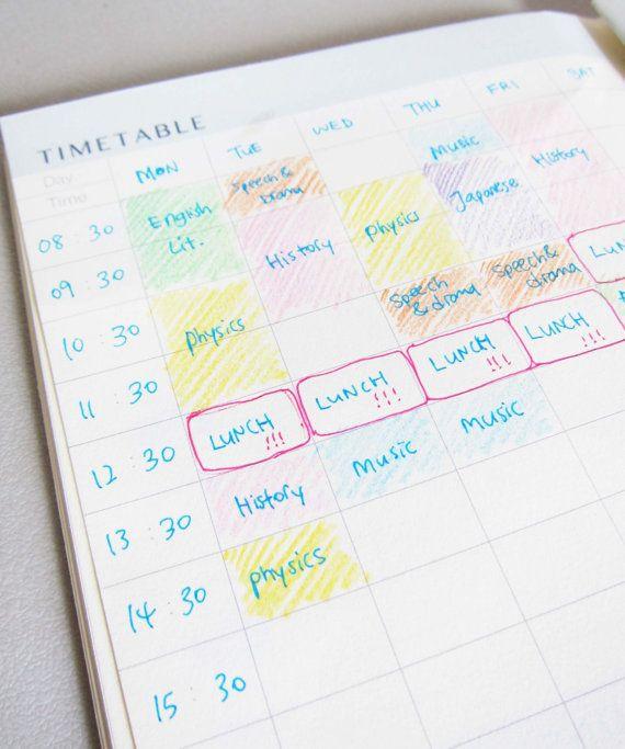 DIY School Planner  Best 25 School timetable ideas on Pinterest