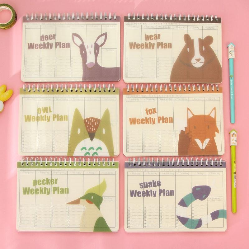 DIY School Planner  Aliexpress Buy diy cute cartoon deer bear weekly
