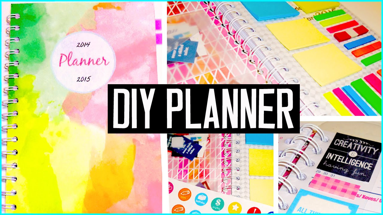 DIY School Planner  DIY PLANNER Cover decorations stickers & more DIY back