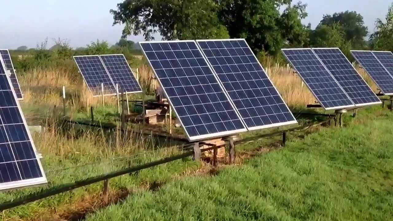DIY Solar Tracker  Solar Tracker 4kw array home made with cheap ponents
