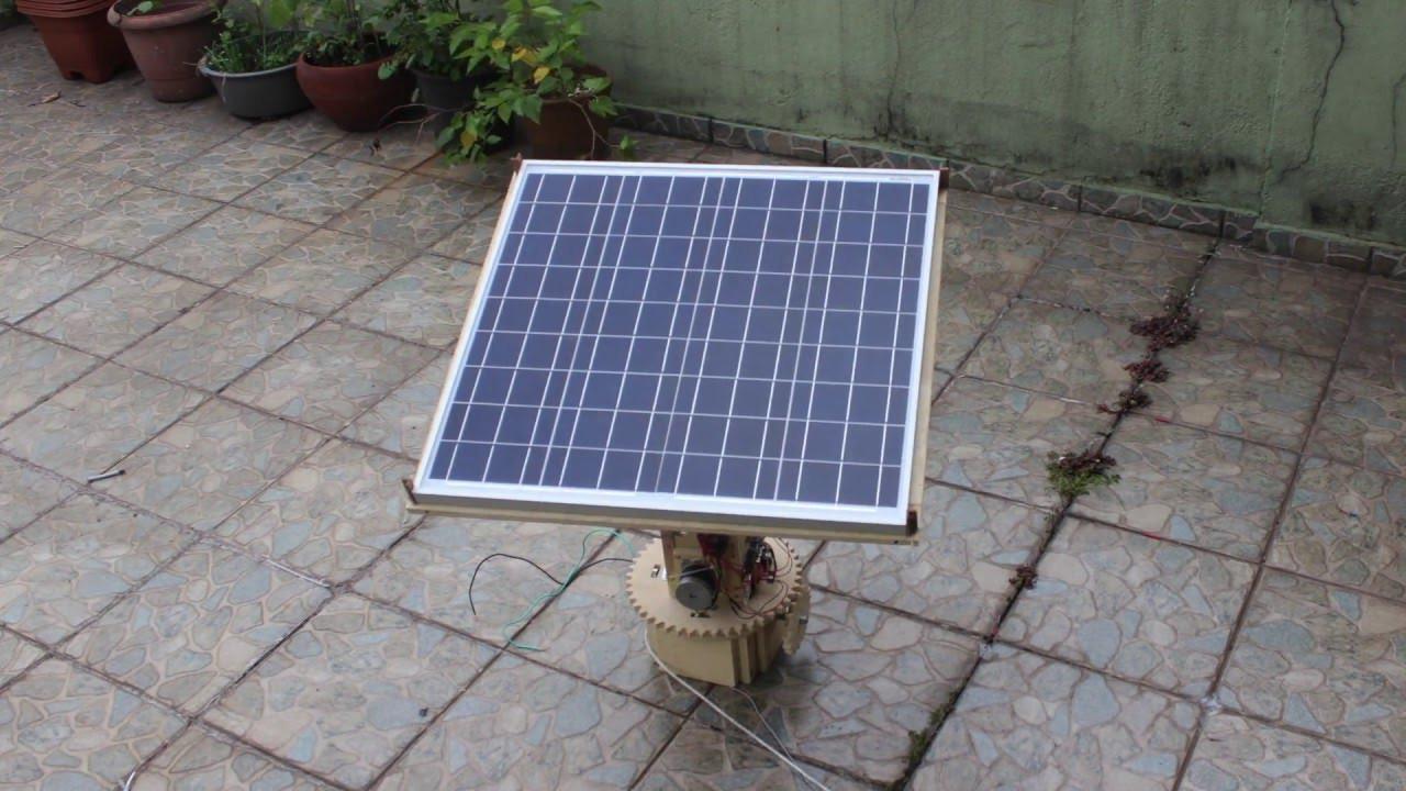 DIY Solar Tracker  Dual Axis Solar Tracker DIY Arduino Time Lapse